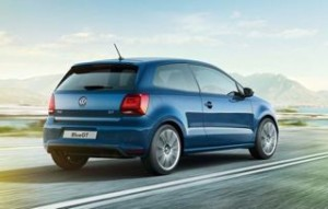 Volkswagen Polo motability car 2014 bluegt