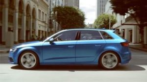 Audi A3 Sportback Motability Car side