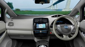 Nissan Leaf electric motability car interior