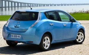 Nissan Leaf electric motability car rear