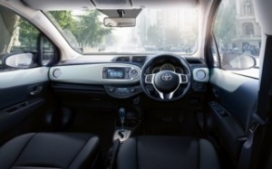 Toyoya Yaris Hybrid Motability car internal
