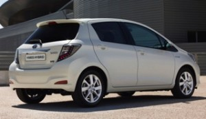 Toyoya Yaris Hybrid Motability car rear