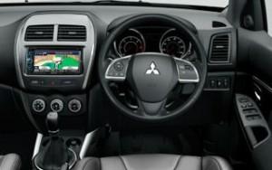 Mitsubishi ASX Motability car dashboard