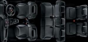 Fiat 500L MPW Motability Car overhead