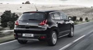 Peugeot 3008 Motability car 2014 rear