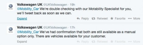 Conversation with VW Motability