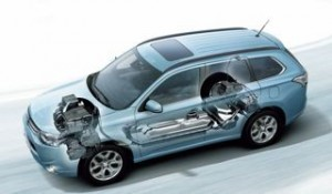 Mitsubishi PHEV motability car cut away