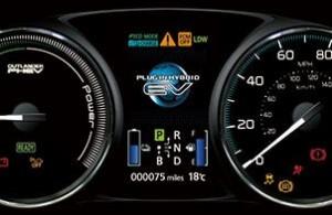 Mitsubishi PHEV motability car dials