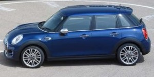 Mini 5 door motability car above