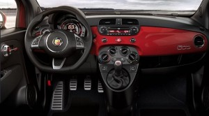 Fiat Abarth 500 Motability car dash