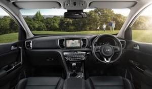 Kia Sportage Motability car dash