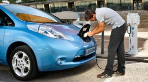 Nissan Leaf electric motability car recharging