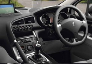 Peugeot 3008 Motability car 2014 dash