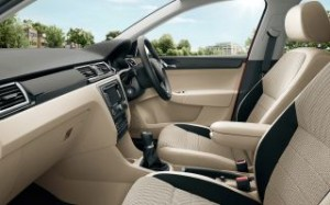 Skoda Rapid Spaceback Motability car inside