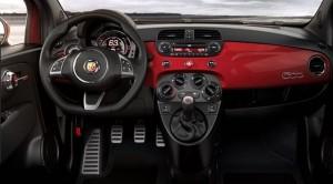 Fiat Abarth 500 Motability car dash